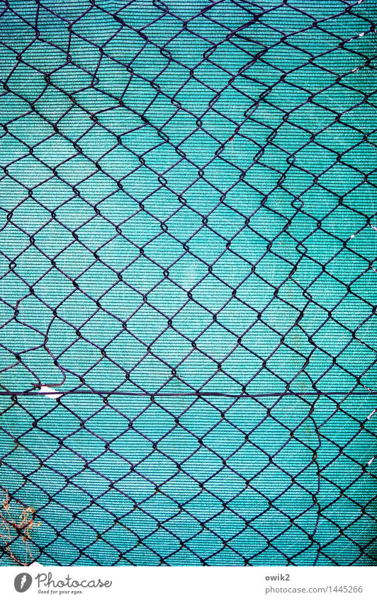 Together Metal Copy Space Gloomy Authentic Protection Safety Plastic Fence Thin Firm Turquoise Sharp-edged Minimalistic Boundary Cliche