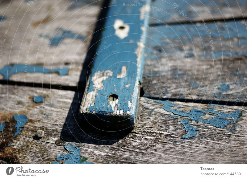 plank Watercraft Wood Old Plank Wooden board Paintwork Colour Paints and varnish Blue Decline Ravages of time Weather Detail Ocean Traces of time