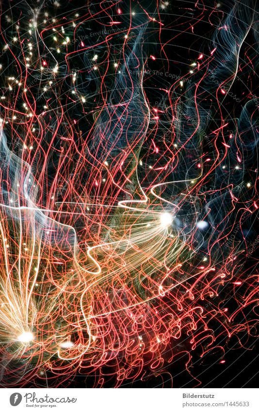 lights Joy Happy Night life Entertainment Party Feasts & Celebrations New Year's Eve Art Firecracker Glittering Esthetic Beautiful Multicoloured Movement Energy