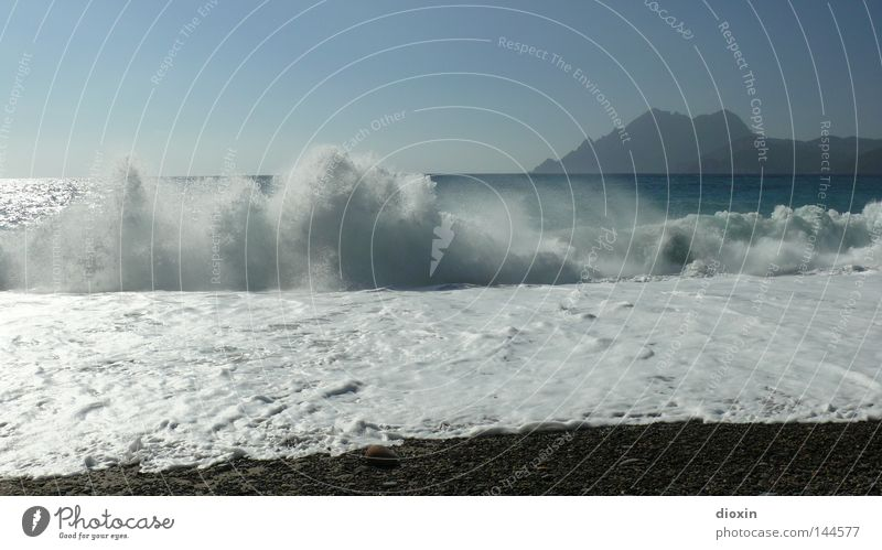 surf Ocean Vacation & Travel Beach Waves Gravel Island Travel photography Surf Coast Corsica Porto Relaxation Sky Blue Landscape Land Feature France Water 16:9