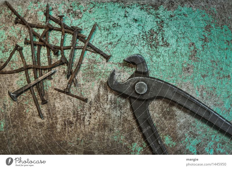 Old Green Brown Metal Work and employment Leisure and hobbies Power Construction site Profession Turquoise Rust Services Craft (trade) Collection Tool Build