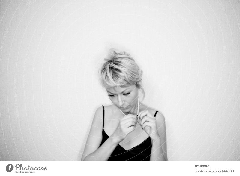 Solitude Woman Hand Loneliness Wall (building) Blonde Grief Distress Black & white photo