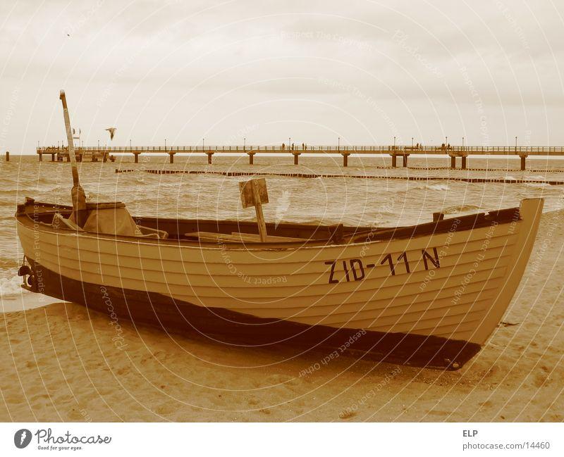 fishing boat Ocean Sea bridge Fishing boat wooden boat Baltic Sea