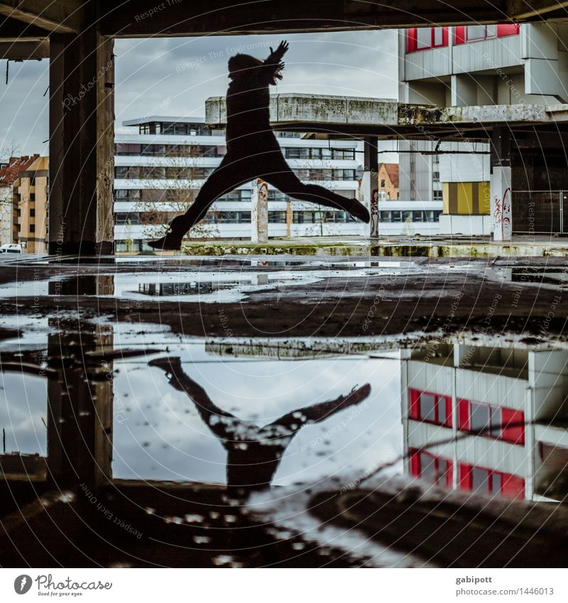 the flying andrea Human being Ihme Center Hannover Town House (Residential Structure) Industrial plant Ruin Manmade structures Building Architecture Street
