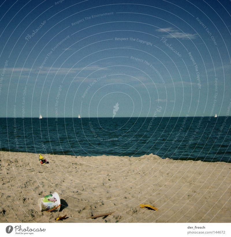 Water Sky Ocean Blue Summer Beach Clouds Relaxation Sand Coast Horizon Clarity Toys North Sea Bucket Shovel
