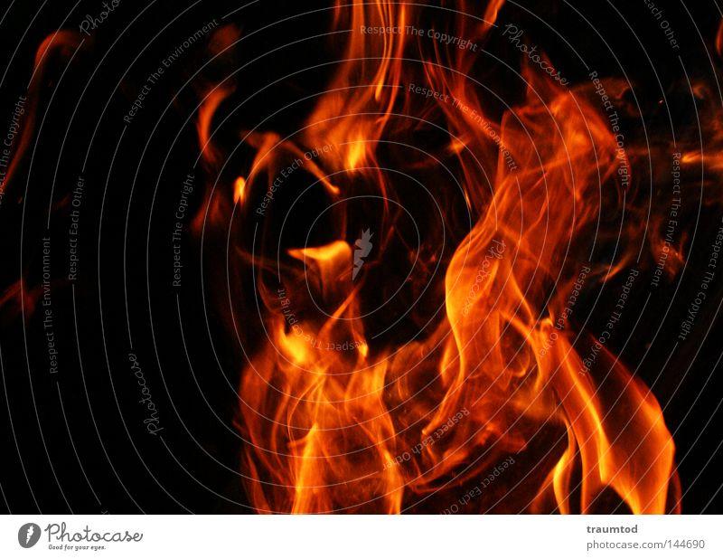 Dance of the Devils II Physics Hot Barbecue (apparatus) Red Yellow Black Embers Burn Blaze Night Dark Hope Fireplace Joy Flame Warmth Orange Lighting flames