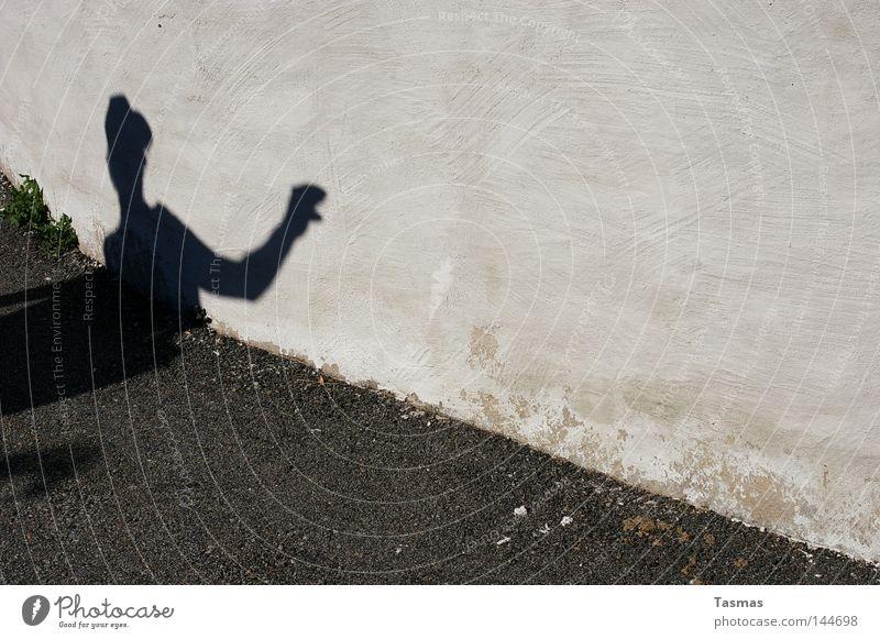 Wall (building) Fear Dangerous Creepy Guy False Panic Shadow play Projection