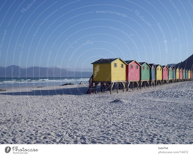 cottage on the beach Multicoloured Beach Africa Contentment Hut