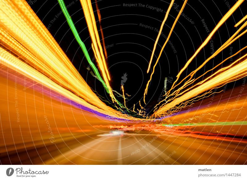 City Green Red Yellow Street Brown Pink Orange Illuminate Transport Driving Violet Traffic infrastructure Intoxication Tunnel Motoring