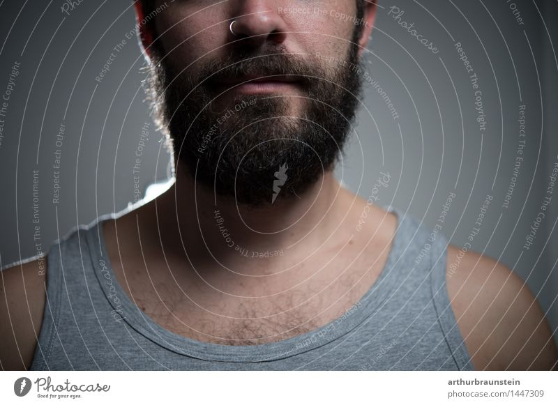 Man with full beard Beautiful Personal hygiene Hair and hairstyles Face Hairdresser Human being Masculine Young man Youth (Young adults) Father Adults Life 1