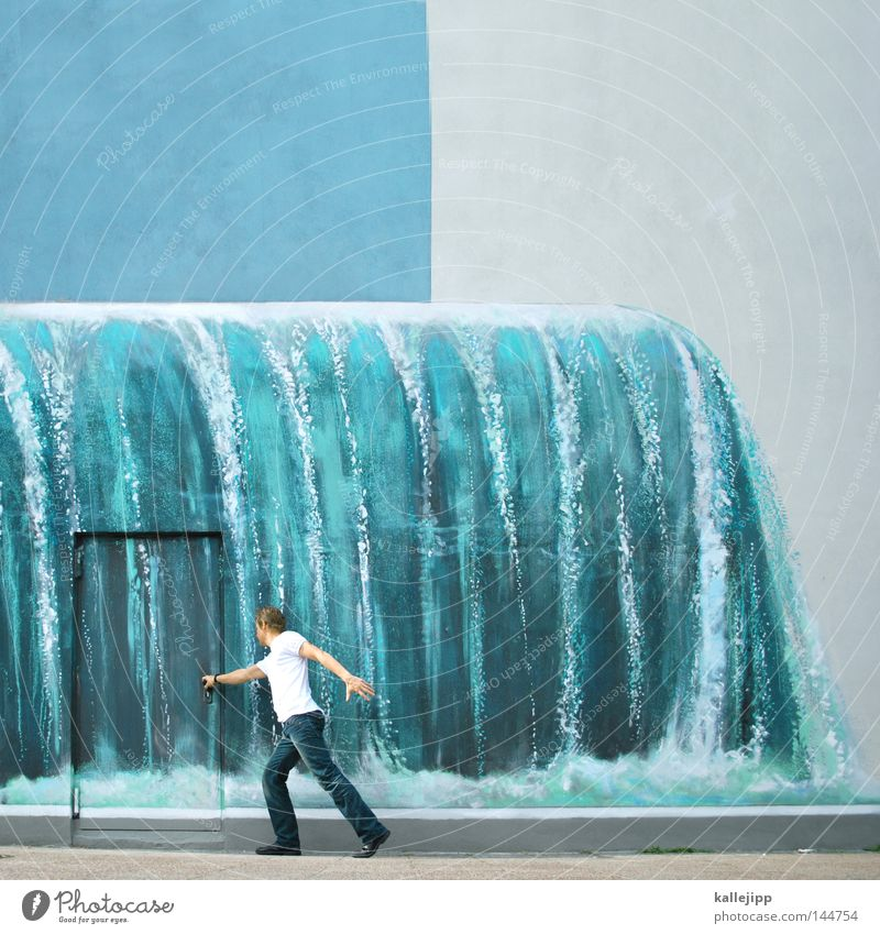 Human being Man Water Ocean Wall (building) Movement Door Waves Open Going Closed Future Political movements Decoration Safety Search