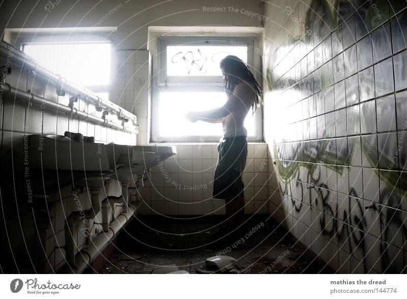 Old Water White Green Beautiful Loneliness Calm Relaxation Window Cold Wall (building) Hair and hairstyles Line Lighting Room Power