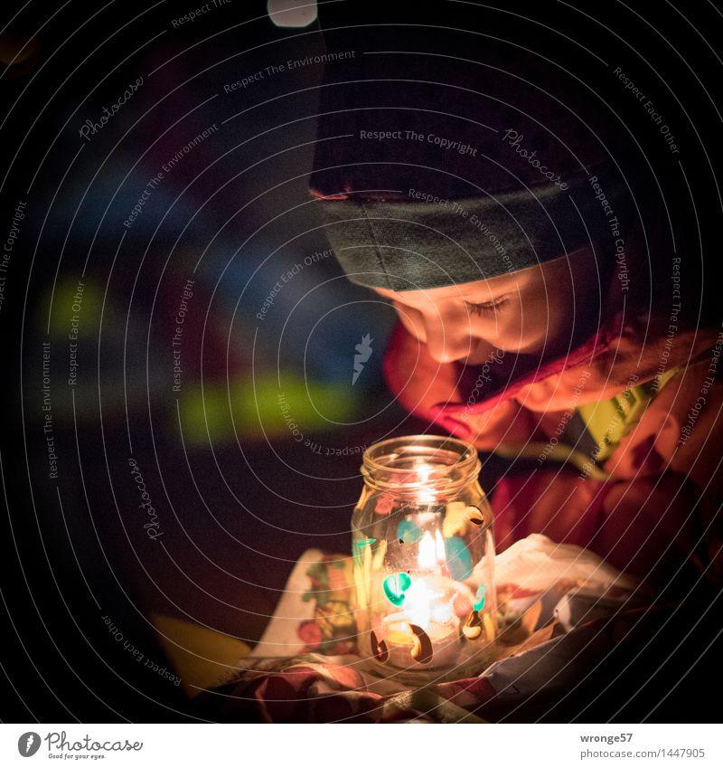 magic lights Christmas & Advent Human being Feminine Child Toddler Girl Life 1 1 - 3 years Glittering Illuminate Dream Happy Bright Blue Red Black White Joy