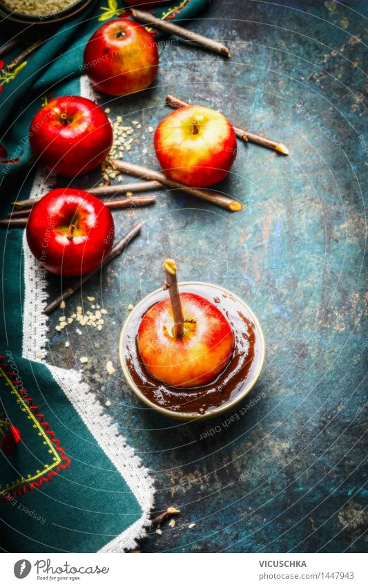Christmas & Advent Summer Joy Dark Food photograph Life Style Feasts & Celebrations Design Nutrition Table Kitchen Candy Apple Tradition