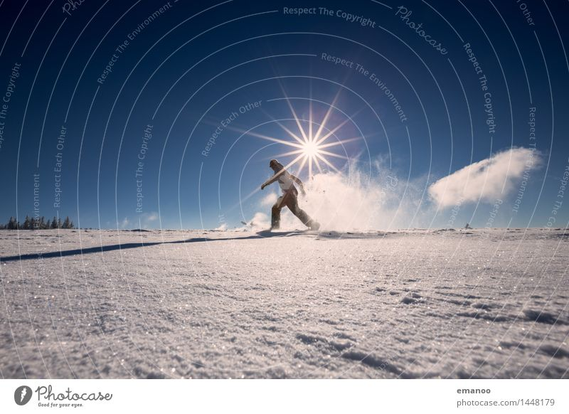 snowrunner Lifestyle Joy Athletic Fitness Vacation & Travel Tourism Trip Freedom Expedition Winter Snow Winter vacation Mountain Hiking Human being Man Adults