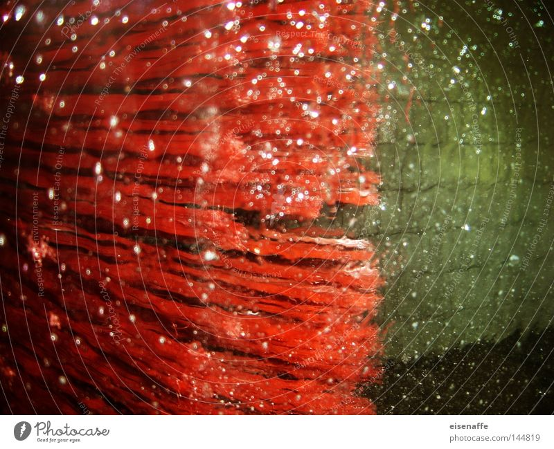 Water Red Car Drops of water Obscure Inject Laundry Foam Petrol station Car wash service