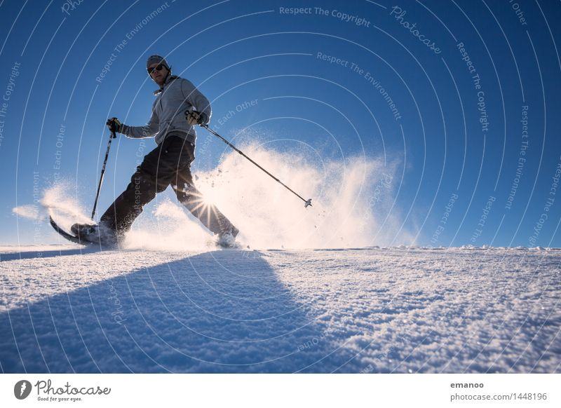 snowshoeing Lifestyle Joy Athletic Fitness Leisure and hobbies Vacation & Travel Tourism Adventure Freedom Winter Winter vacation Mountain Hiking Sports