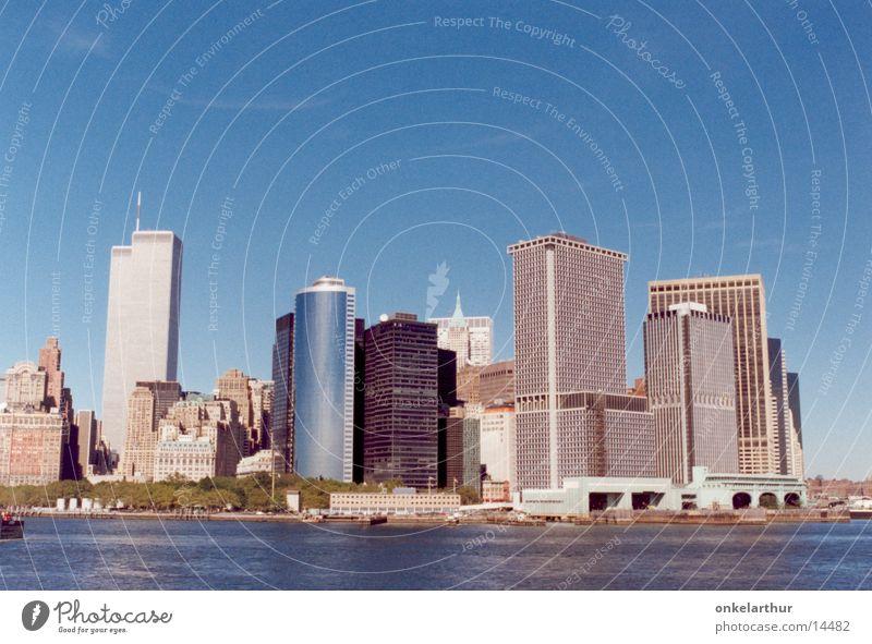 Skyline New York Manhattan World Trade Center High-rise North America Water Staten Island Ferry. town