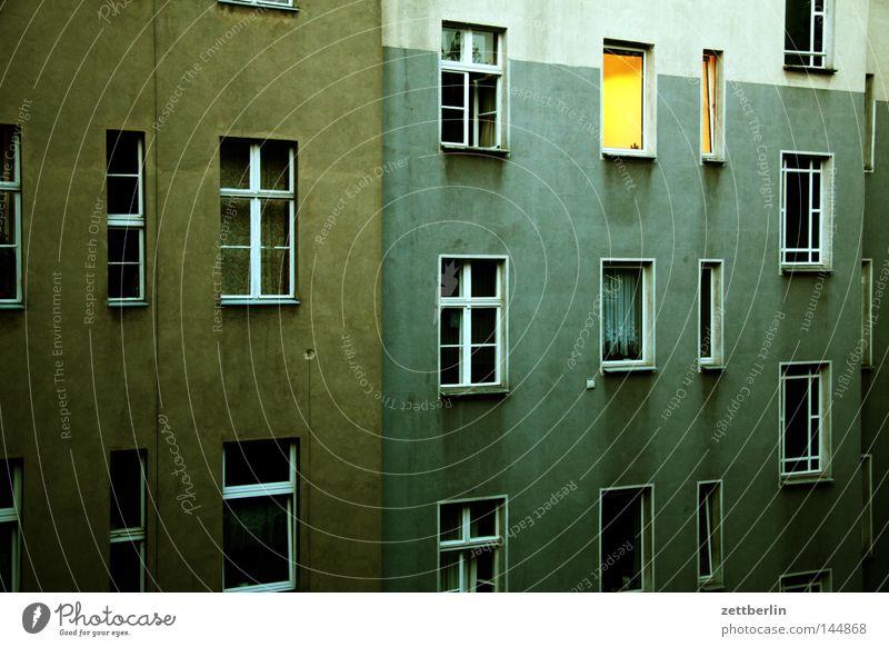 House (Residential Structure) Berlin Window Building Rain Living or residing Mysterious Illuminate Backyard Tenant Courtyard Awareness