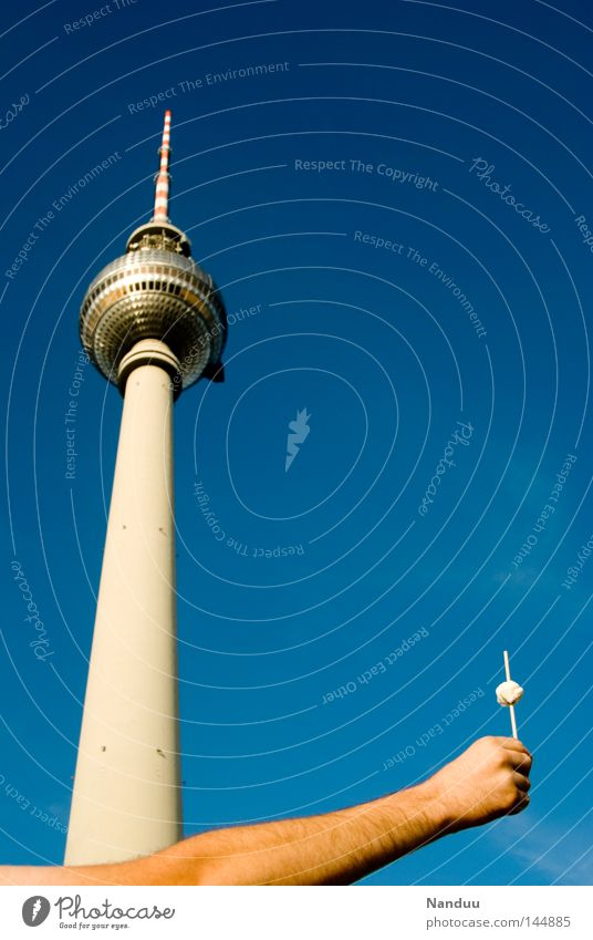 Hand Summer Berlin Architecture Small Germany Arm Masculine Large Tourism Tower To hold on Long Beautiful weather Monument Landmark