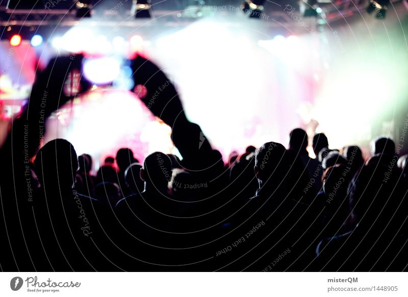 Joy Art Party Music Esthetic Shows Media Event Concert Stage Crowd of people Band Guitar Fan Musician Applause