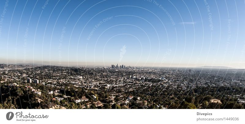 Los Angeles Skyline Small Town Building Old Architecture Street Exterior shot Beautiful Nature Light Park Attractive Symbols and metaphors Neutral Background