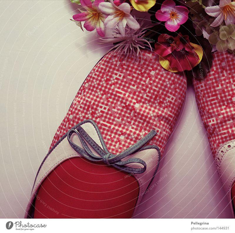 Old Flower Footwear Retro Kitsch Point Statue Stockings Spotted Loop