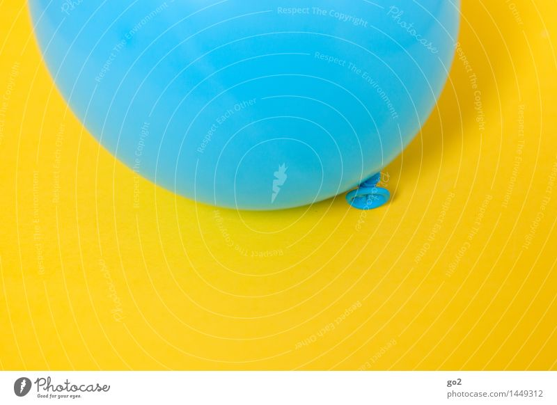 Blue Colour Joy Yellow Feasts & Celebrations Flying Party Fresh Decoration Birthday Happiness Esthetic Simple Round Balloon Infinity