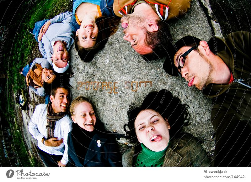 PDM 08, fuck you! Friendship Group Photographer Human being Joy Face Fisheye