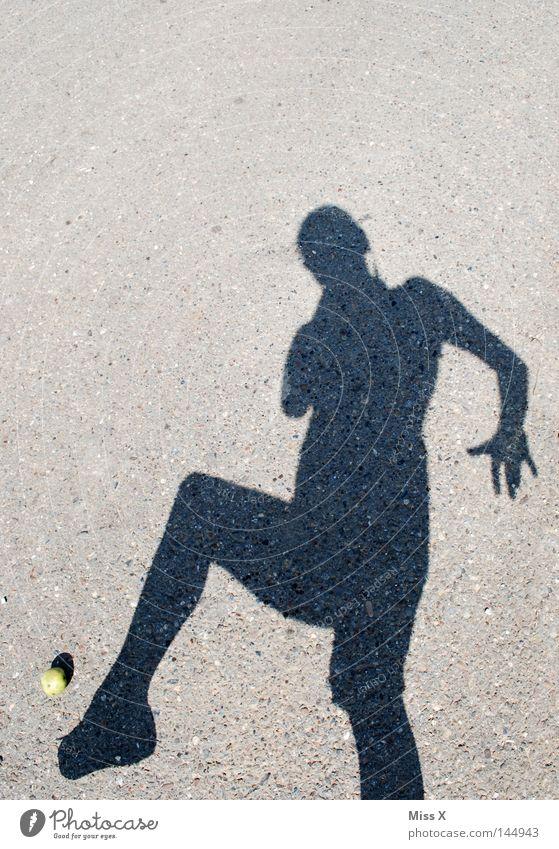 Woman Hand Black Adults Street Playing Lanes & trails Gray Stone Feet Beautiful weather Apple Asphalt Footpath Sidewalk Shot