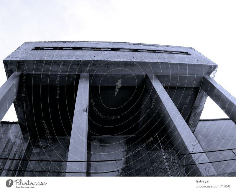 Saxon bath/2 Sachsenbad Concrete Decline Architecture Bauhaus Column