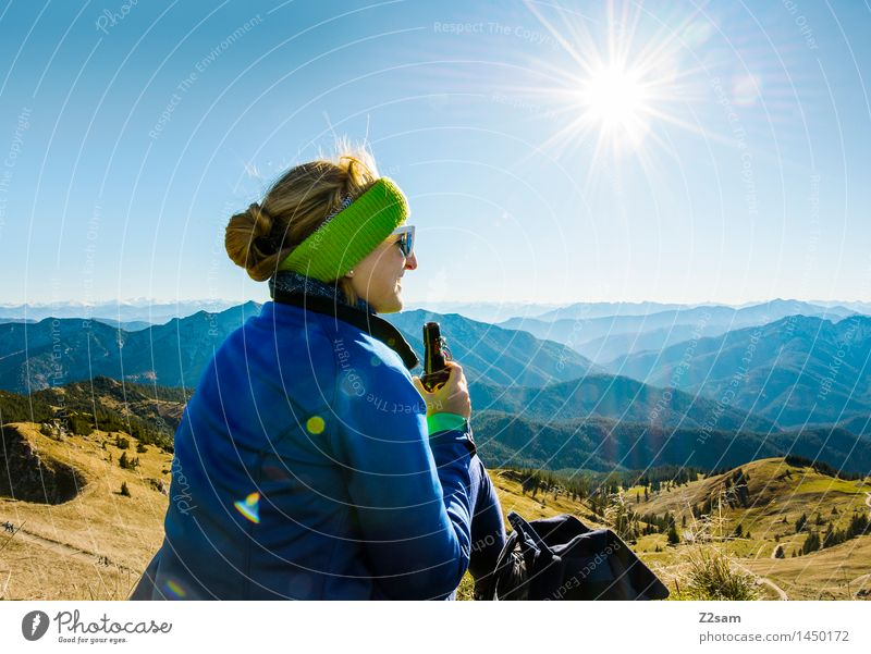Now a cool summit cyclist Athletic Leisure and hobbies Trip Adventure Far-off places Freedom Mountain Hiking Feminine 1 Human being 18 - 30 years