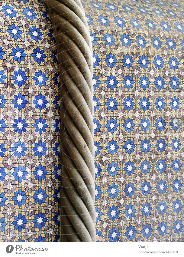 Old Flower Blue Stone Art Rope Facade Decoration Tile String Monument Craft (trade) Rotate Landmark Motive