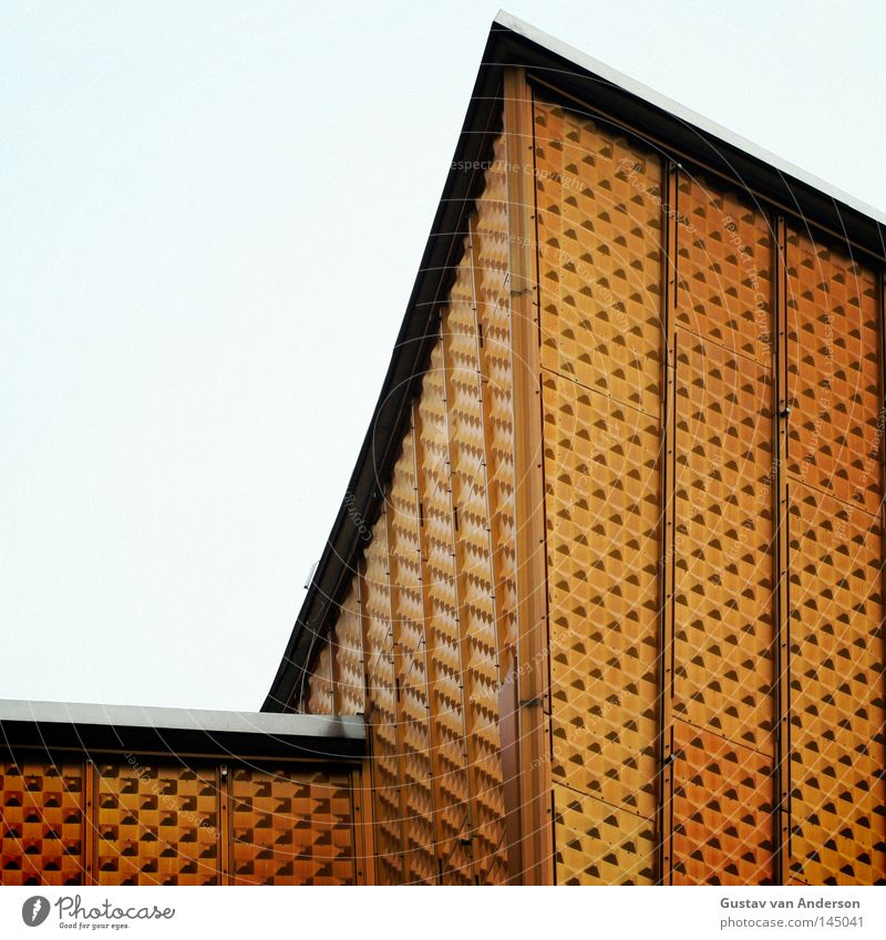 Harmony I Berlin Philharmonic Culture Iconic Design Art Concert House (Residential Structure) Building Facade Wall (building) Tin Yellow Concert Hall