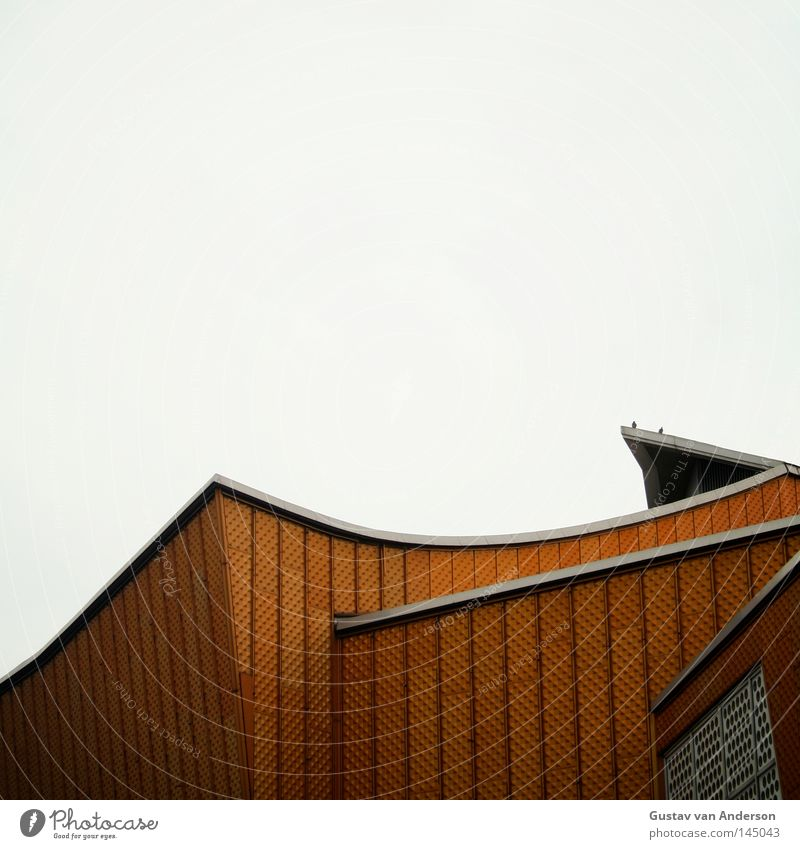 Harmony III Berlin Philharmonic Culture Iconic Design Art Concert House (Residential Structure) Building Facade Wall (building) Tin Yellow Concert Hall