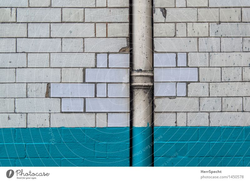 City Old White House (Residential Structure) Wall (building) Background picture Building Wall (barrier) Flying Facade Retro New Manmade structures Turquoise