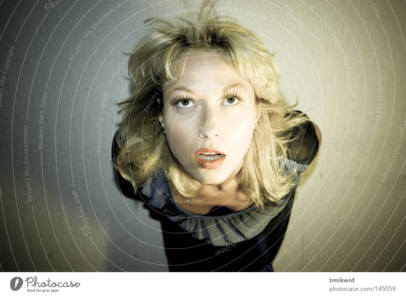 lights go down Light Light (Natural Phenomenon) Woman Mouth Hair and hairstyles Eyes source of light lightning effect Blonde Lips wondering