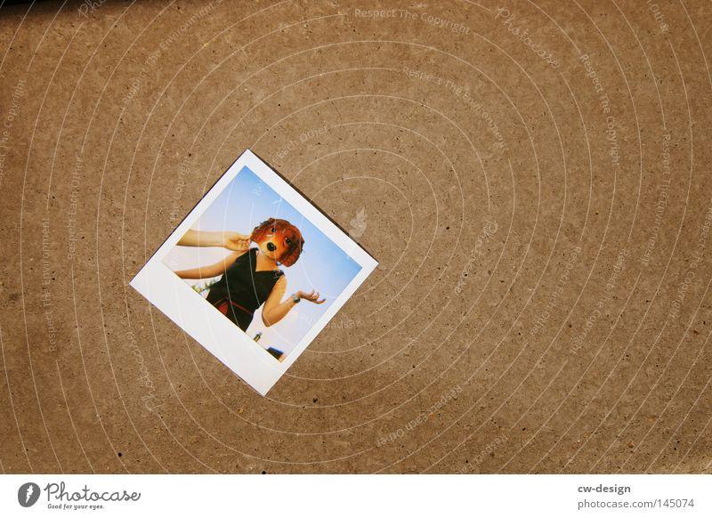 Dog Human being Sky Hand Joy Animal Colour Gray Horizon Brown Together Photography Polaroid Concrete Paper Gloomy