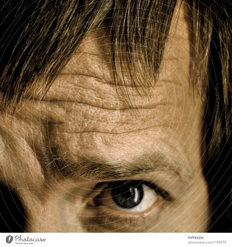 Symmetry is the harmony of the little man. Hair and hairstyles Haircut Bangs Part Wrinkles Face Detail Looking Discover Skin Pore Pupil Human being Man Old