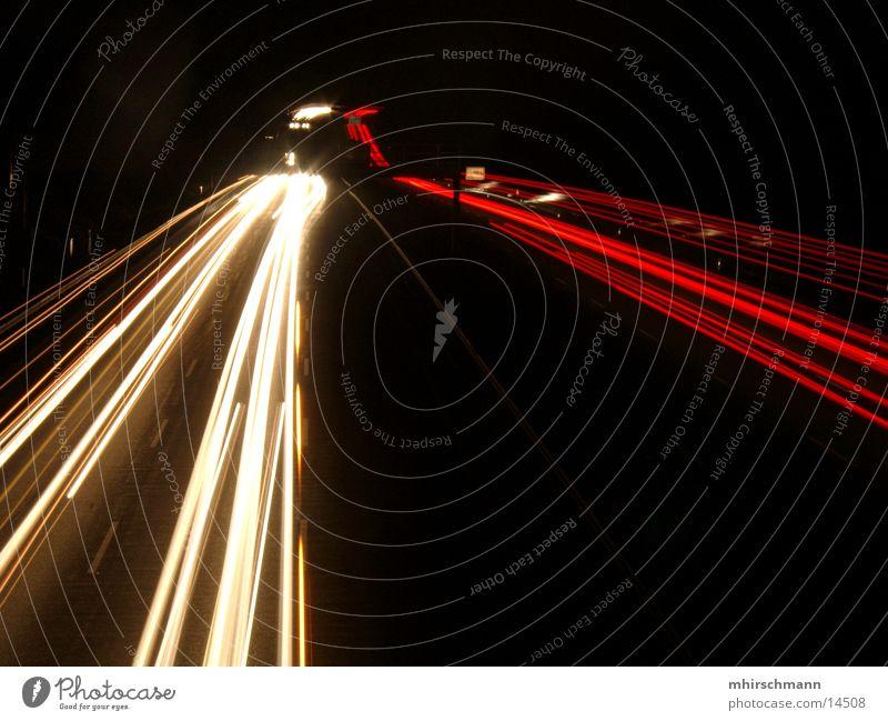 White Red Black Highway Floodlight Rear light Freeway