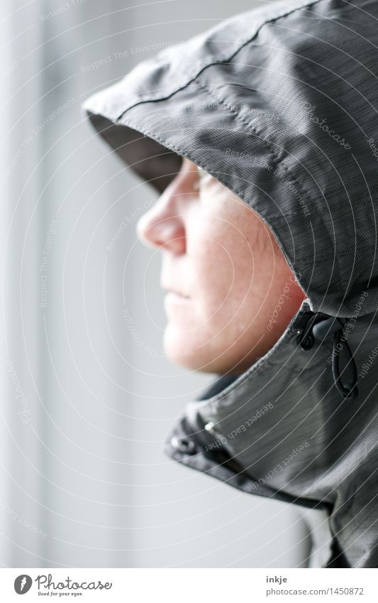 Human being Woman Winter Face Adults Life Autumn Emotions Style Gray Lifestyle Moody Weather Clothing Climate Jacket