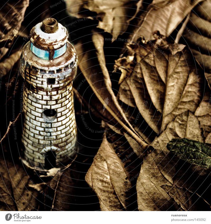 Leaf Lamp Autumn Ground Tower Gastronomy Jewellery Lighthouse Miniature Handbook