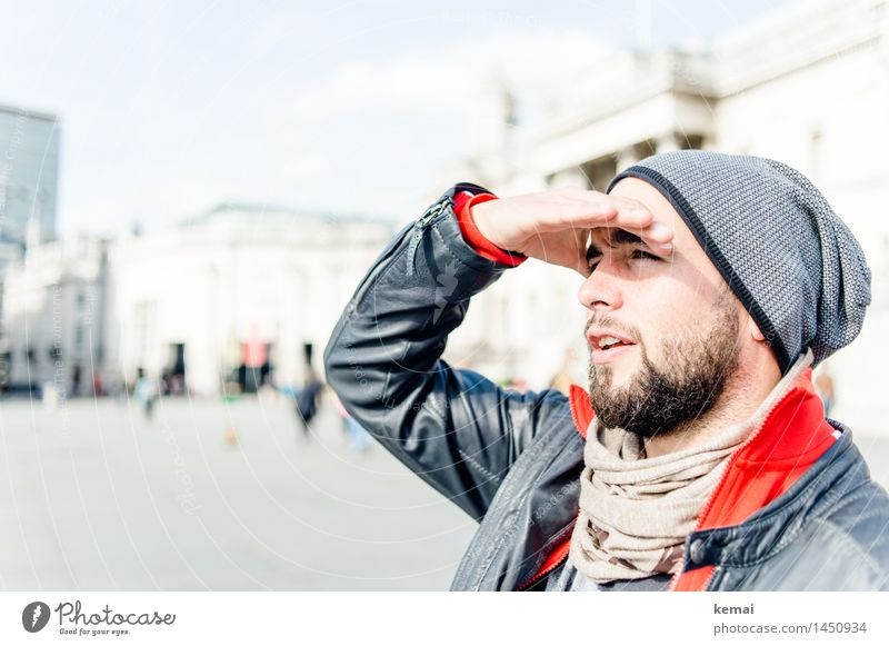 The London tourist Lifestyle Style Vacation & Travel Tourism Trip Sightseeing City trip Human being Masculine Young man Youth (Young adults) Adults Head Hand 1
