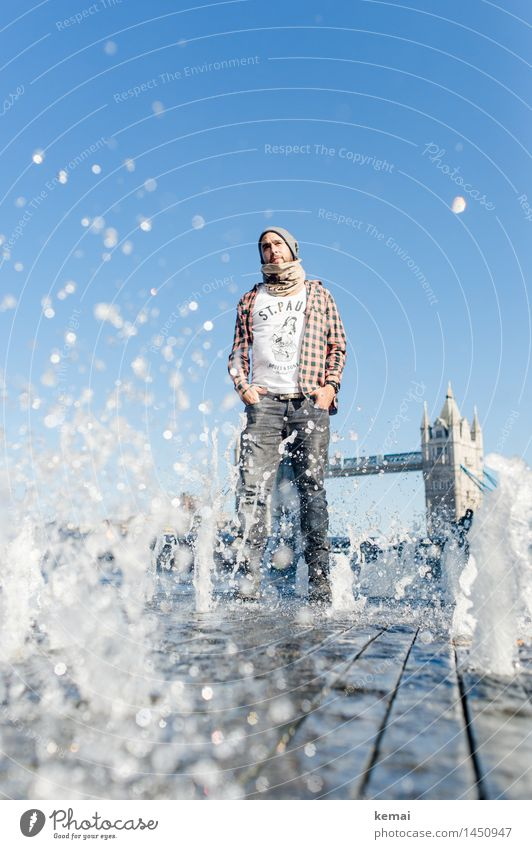 Waterman (1) Lifestyle Style Tourism Human being Masculine Young man Youth (Young adults) Adults Body 18 - 30 years Drops of water London Tourist Attraction
