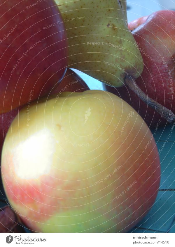 Red Nutrition Fruit Apple Pear Greeny-blue