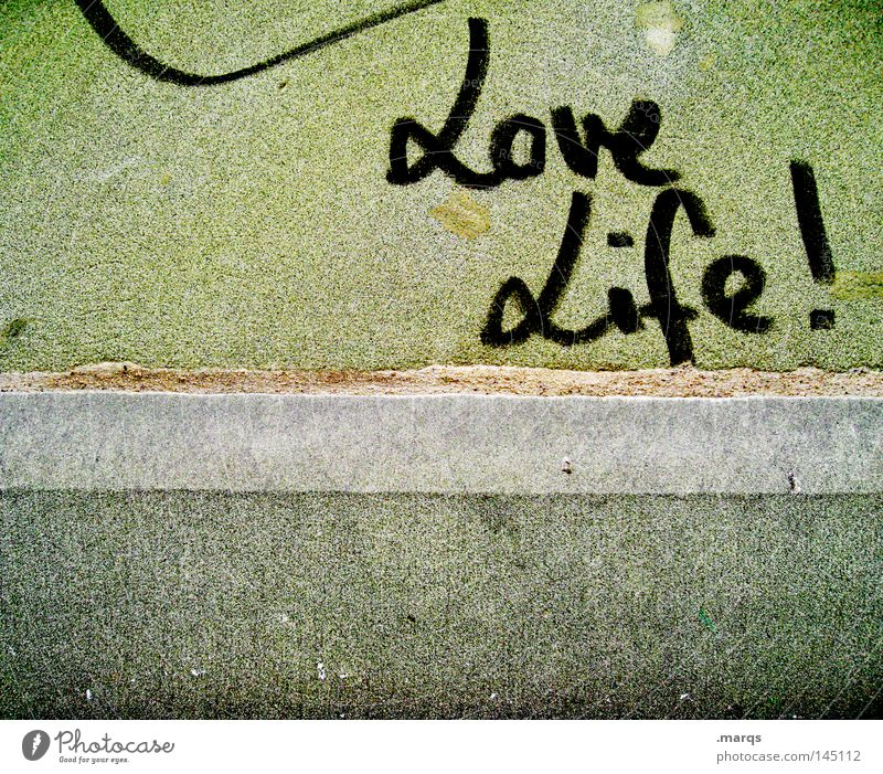 Green Joy Love Life Wall (building) Happy Wall (barrier) Contentment Graffiti Lifestyle Hope Happiness Characters Letters (alphabet) Joie de vivre (Vitality) Typography