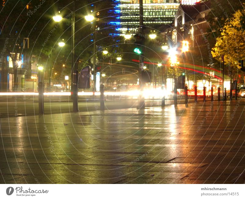 Lamp Dark Berlin Bright Lighting Traffic light Flash