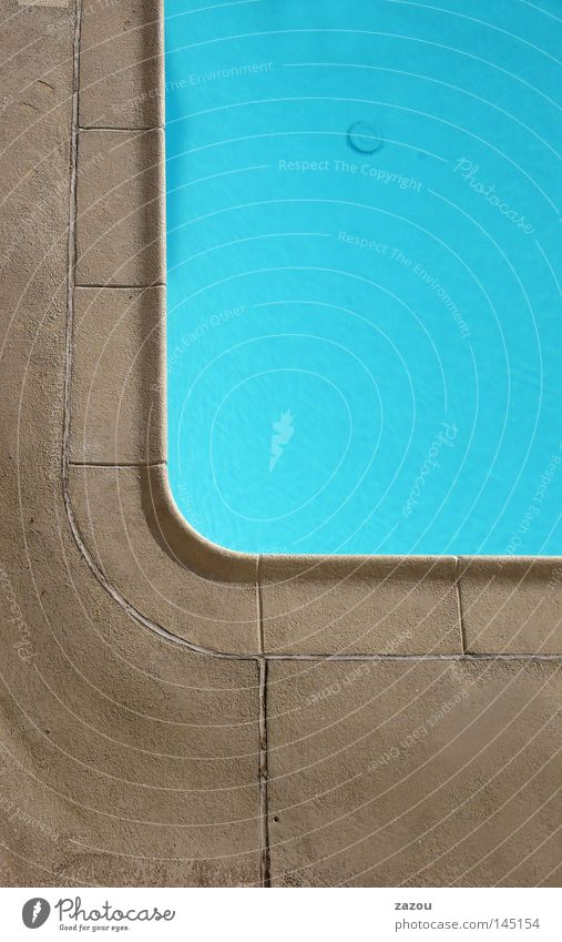Motel Pool Colour photo Exterior shot Detail Day Bathroom Swimming pool Water Blue Basin Resort Derelict