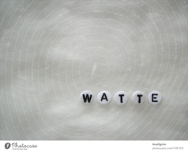 White Black Round Characters Soft Letters (alphabet) Things Obscure Pearl Word Absorbent cotton