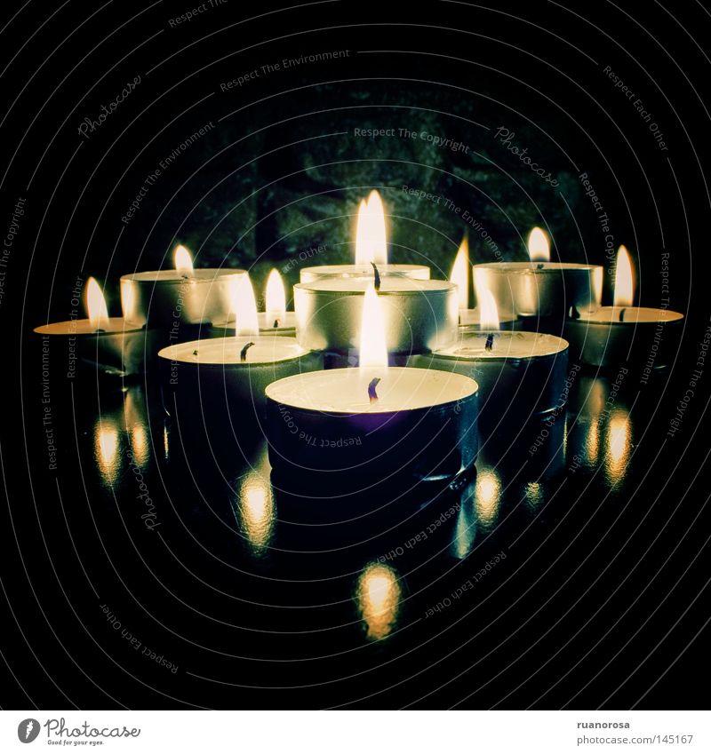 Exvoto Fire Reflection Night sky Light Light (Natural Phenomenon) Gothic period Shadow Decoration Candle Llama Dark Twilight Glittering Sacrificial offering